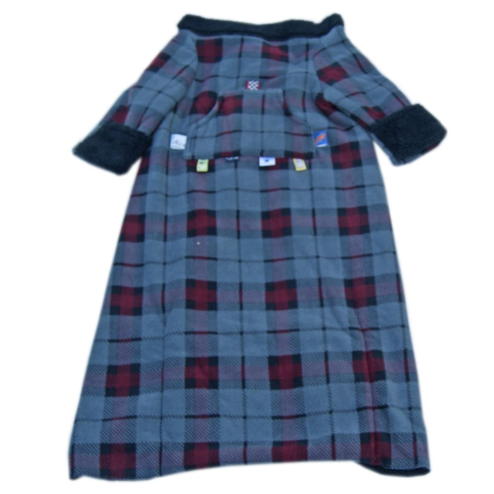 kids snuggle blanket grey plaid