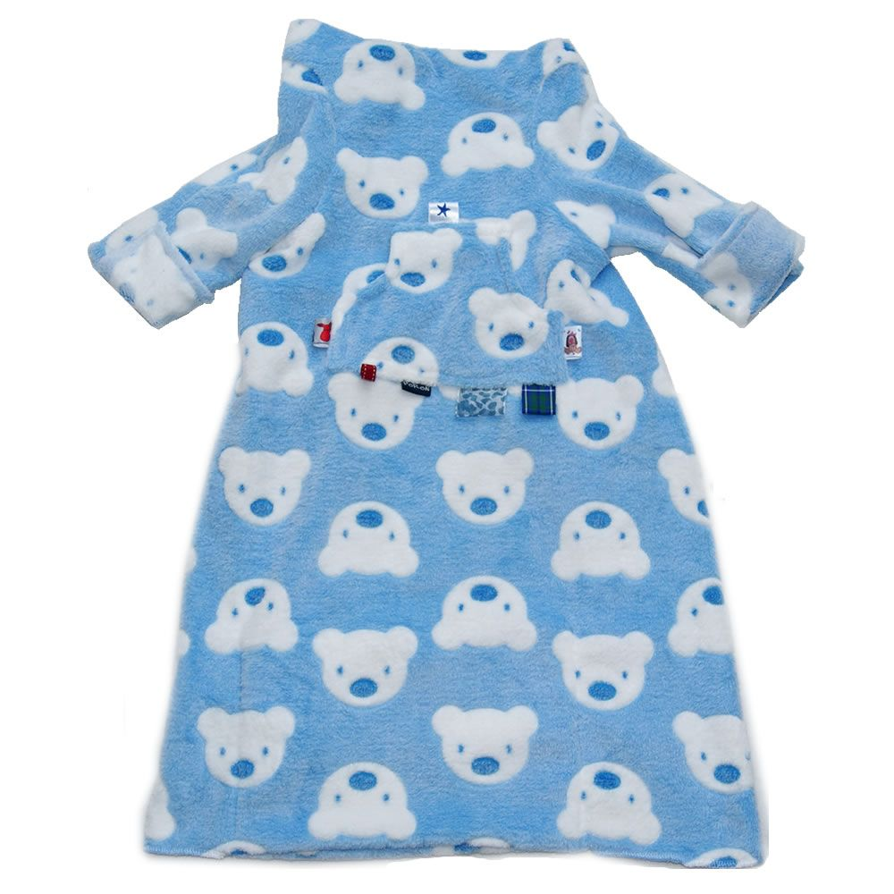 car seat blanket blue and white teds