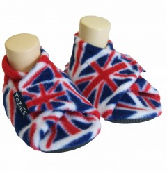 Union Jack baby girl slippers