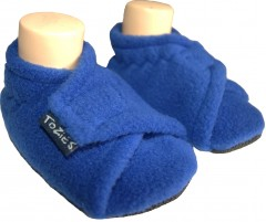 Royal blue baby girl slippers