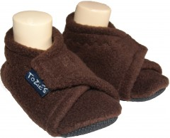 brown baby girl slippers