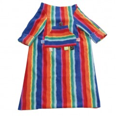 pushchair blanket rainbow stripe