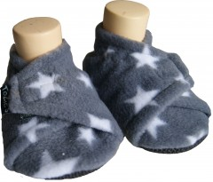grey stars toddler boy slippers