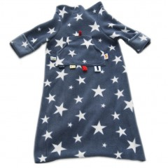 kids snuggle blanket white stars on grey