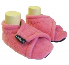 Pink star toddler girl slippers