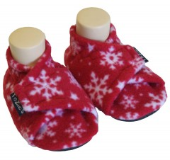 snowflakes toddler girl slippers