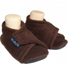 brown toddler girl slippers